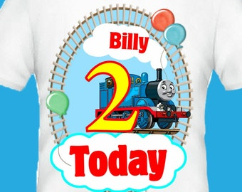 Thomas the tank personalised t shirt top birthday train