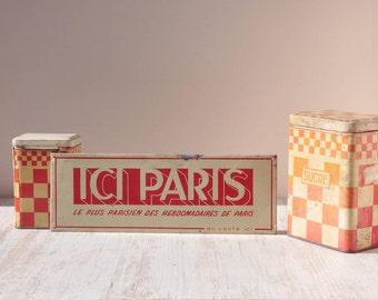 "Vintage french advertising ""Ici Paris"""