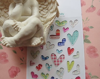 Lovely Amazing Candy HEART 3D Sticker/Epoxy heart sticker/cute HEART stickers/HEART stickers/kawaii stickers