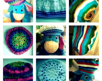 Hand made CHROCHET toddler girls hat (3-4yrs)