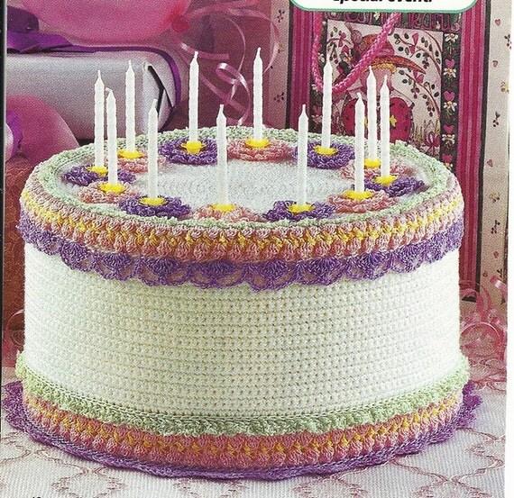Birthday cake vintage crochet pattern p 059 home decor - Crochet mural vintage ...