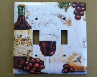 Wine and Grapes Kitchen Home Decor Custom Light Switch Covers  *Various Type Covers Available*