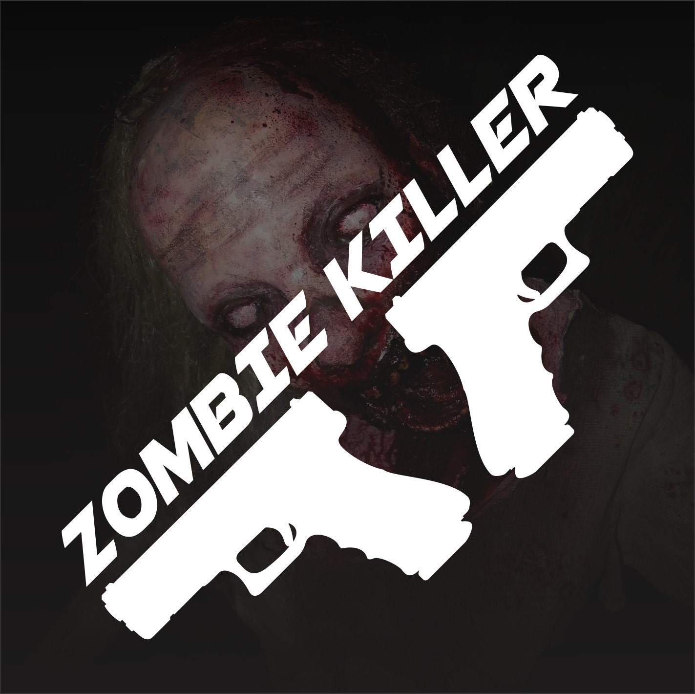 Zombie Killer Bumper Sticker Vinyl Decal by ...