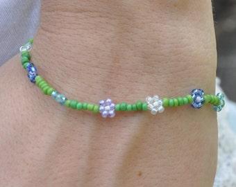 green vine flower bracelet