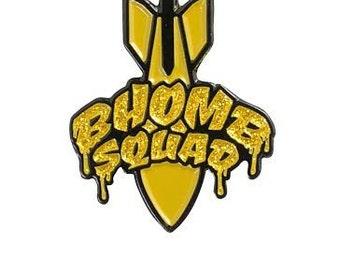 Bhomb Squad Glitter Logo Pin - Single