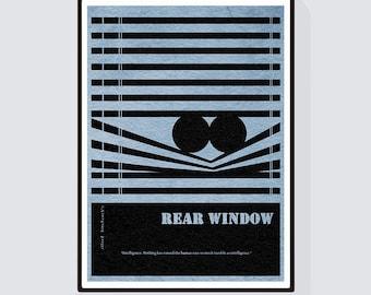 Rear Window Minimalist Alternative Movie Print & Poster