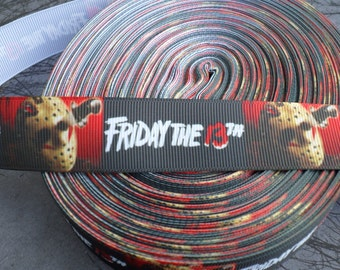 Jason Voorhees Friday the 13th Horror Grosgrain ribbon