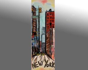 peinture art contemporain new york manhattan peinture ville. Black Bedroom Furniture Sets. Home Design Ideas
