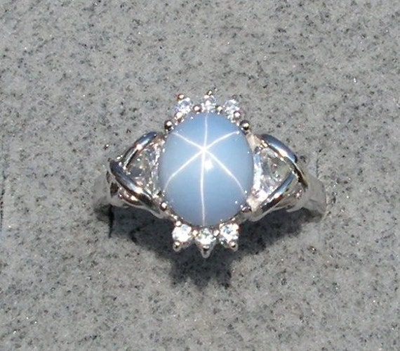 New Sizes Vintage Linde Lindy Azure Blue Star Sapphire Created