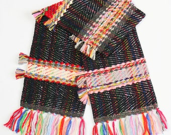 Hand Woven Scarf  CARNIVAL  Handwoven Scarf, Unique Scarf, Winter Scarf, Women Scarf Clothing, perfect gift
