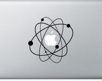 Sticker Macbook - Atom - Decal for MacBook Air Pro Retina - 11 12 13 15 or 17 inches - Skin for macbook easy to stick