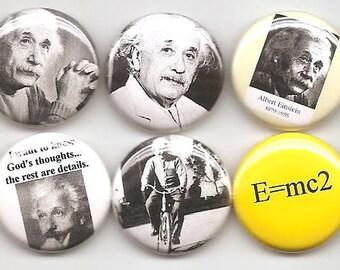 Albert Einstein 10 Pins Button Badge Pinback