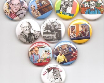 Mr. Dressup Ernie Coombs TV Show Casey and Finnegan 10 Pins Button Badge Pinback