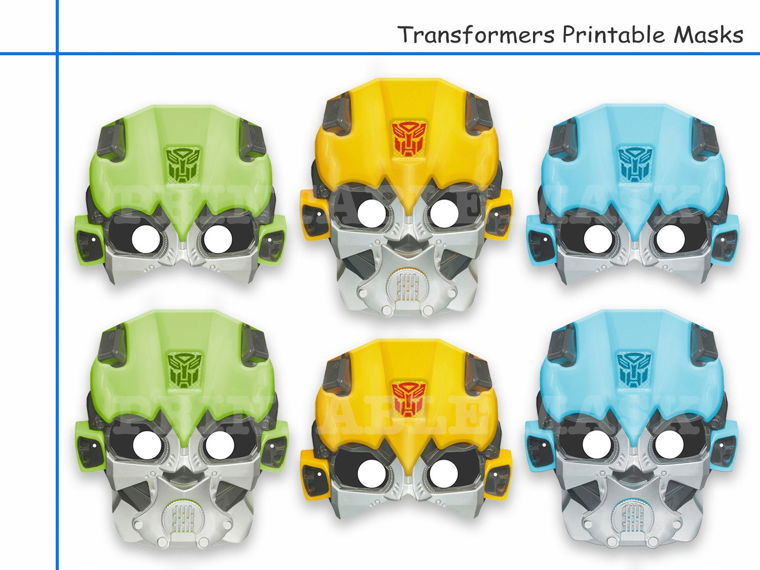 Free printable coloring pages rescue bots - Unique 6 Transformers Printable Masks Party Decoration Kids Dress Up Mask Photo Booth Props Rescue Bots Boys Costume Robot Diy Paper