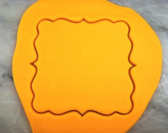 Square Plaque Cookie Cutter - SHARP EDGES - FAST Shipping - Choose Your Own Size!
