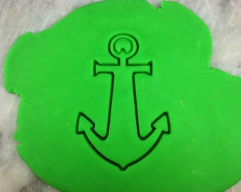 Anchor Cookie Cutter Detailed - SHARP EDGES - FAST Shipping - Choose Your Own Size!