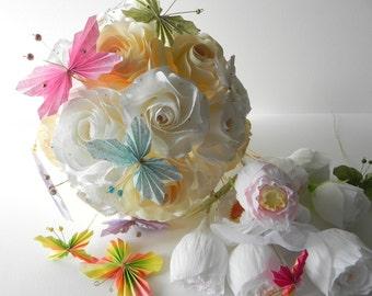Custom Wedding Bouquet and Boutonniere, Wedding bouquets, Bride bouquet, bridal bouquet, wedding flowers, bouquet, handmade wedding bouquet
