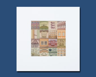 16 Fragments of Prague in pastel