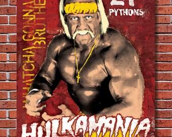 Hulkamania: a Hulk Hogan Art Print
