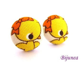 Bird earrings - Yellow bird earrings - Bird studs - Bird stud earrings - Bird posts - Bird post earrings sf587