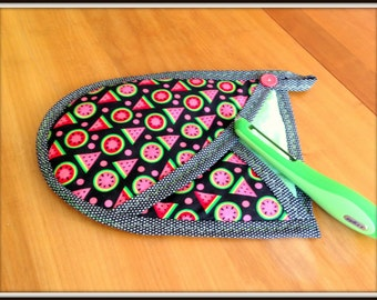 Watermelon  Print Quilted Oven Mitt