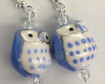 Chubby Owl Drop Earrings
