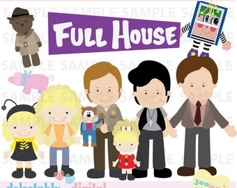 Clipart- Full House- 90s, Nostalgia, tv show, Personal and Commercial Use