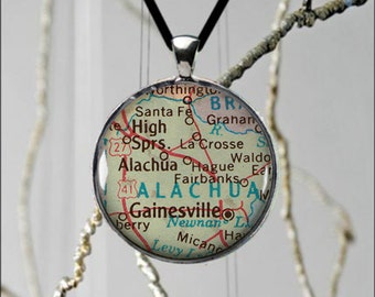 Gainesville map etsy for Jewelry engraving gainesville fl