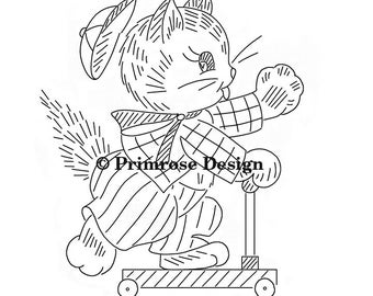 Vintage Hand-Embroidery Pattern PDF - Kitten Capers (VP118)