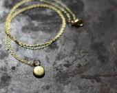 Teeny Tiny Vintage Round Locket Necklace