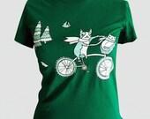 Animal T-shirt (Bike Dog Cat shirt), Teen Clothing Hipster Tshirt Tee
