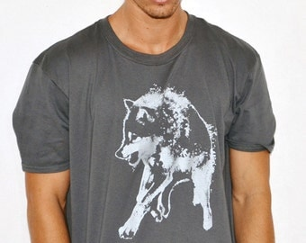 plus size, fathers day, wolf t-shirt, for him, mens clothing, wolf shirt, mens graphic tee, free shipping, wolf t-shirt, mens XXL