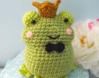 Amigurumi Crochet Frog Prince Pattern Digital Download