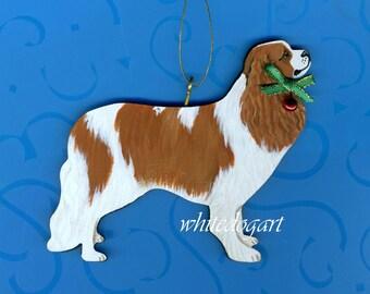 Custom Cavalier King Charles Handpainted Christmas Ornament