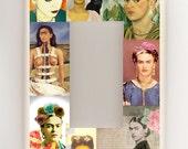 Frida Kahlo -  Single Rocker Light Switch Cover - Mexican Folk Art - Altered Art - Collage