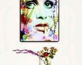 Twiggy Art, Twiggy  Canvas Wall Art, Twiggy Pop Art,1960s Art, Fashion Home Decor