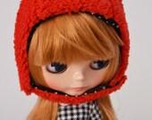 RESERVED FOR anna1022rus Kawaii red bear helmet for blythe