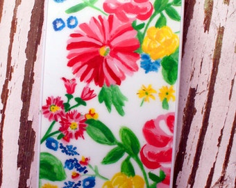 Feminine Vintage Painterly Floral - original painting 5 5s i phone cell cover