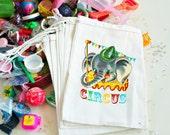 Circus Retro Birthday Goodie Bag Party Vintage Custom 4X6 10 count or 6 X 8