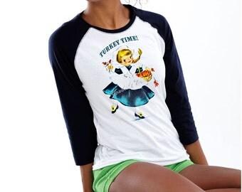 Thanksgiving Women Baseball Shirt Junior Custom Size  S M L Xl Xxl 3XL Unisex