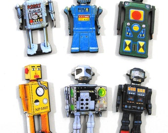 Toy Robot Wood Craft Pieces