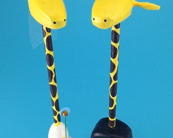Giraffe Wedding Cake Toppers | Bride and Groom Giraffes | Gay and Lesbian Wedding Cake Toppers | Custom Wedding Cake Toppers
