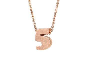 5 - block number necklace