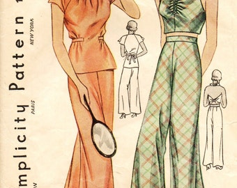 Simplicity 1971 HOLLYWOOD 1930s GLAMOUR Lounging Halter PJs