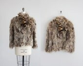 raccoon fur coat / raccoon jacket / shaggy fur coat