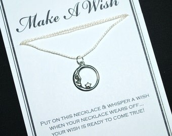 Celestial Moon Wish Necklace