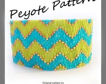 Chevron Peyote Pattern Bracelet - For Personal Use Only PDF Tutorial