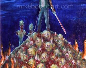 Michonne Art Print 8x11 by Mike Boston