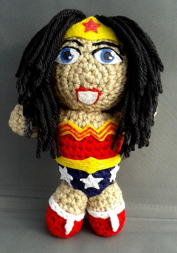 Amigurumi Wonder Woman : Wonder Woman superhero amigurumi doll by LLsCreations83 on ...