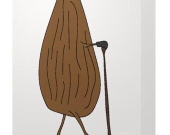 Just an almond, out for a walk blank card